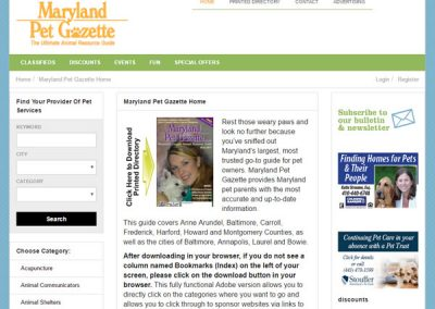 The Maryland Pet Gazette